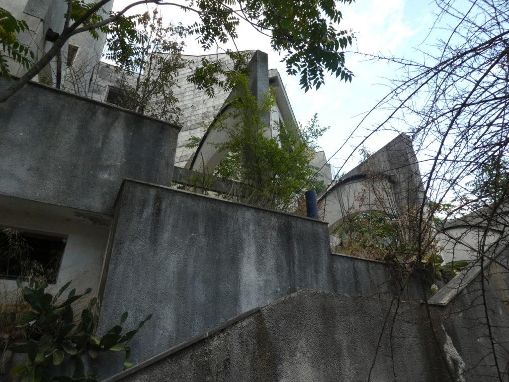 Ruins of Hotel Fjord, Kotor Montenegro.