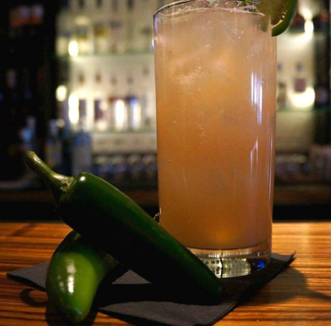 A spicy craft cocktail at Ginger will keep you warm.