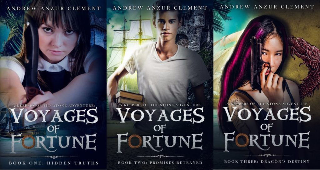 Voyages of Fortune trilogy book covers